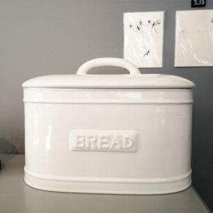 huche a pain céramique blanc